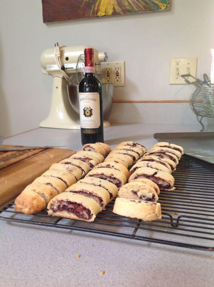 Fresh Fig Jam filled Italian cookies Cucidati