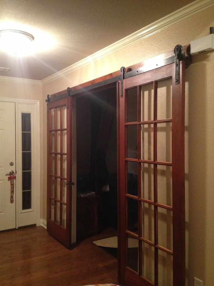 Opened Antique Style French Doors Interior Design