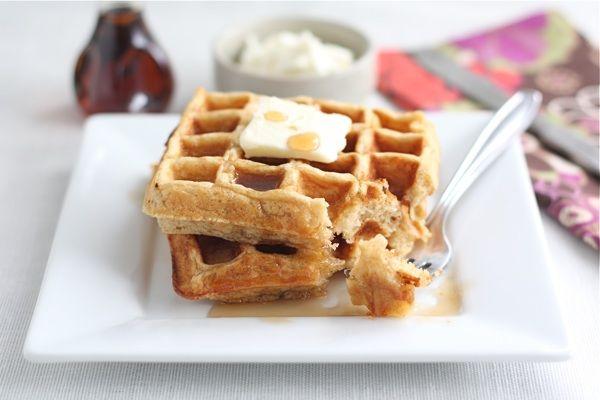 Honey Yogurt Waffles- made with Greek yogurt, oats, and whole wheat ...