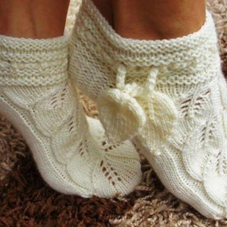 Вязание спицами носки ажурные