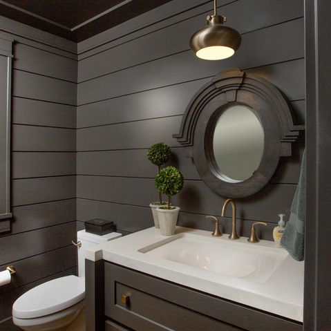 Tongue and groove bathroom ceiling