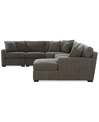 Best Radley 5 Piece Fabric Chaise Modular Sectional Sofa 400 x 300