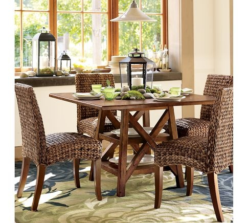 seagrass chair pottery barn interiors dining rooms