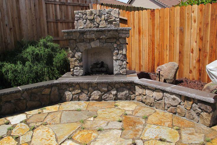 Backyard Fireplace Ideas :  Outdoor Fireplace Designs Yellow Stone, Portable Outdoor Fireplace