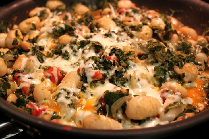 Warming Winter Dinner: Skillet Gnocchi with Spinach and White Beans ...