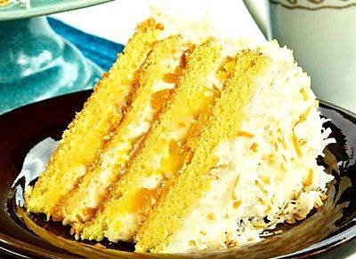 Mango, Pineapple and Coconut Layer Cake | Yum | Pinterest
