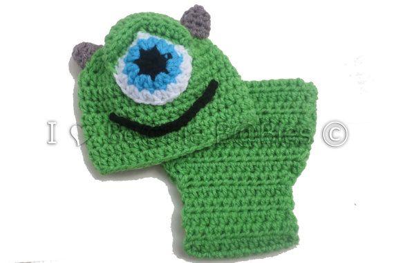 Crochet Mike Wazowski Monster Inc Photo Prop Newborn photo ...