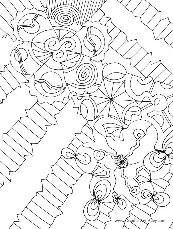 Abstract Doodle Coloring Pages : From doodle art alley abstract g coloring embroidry