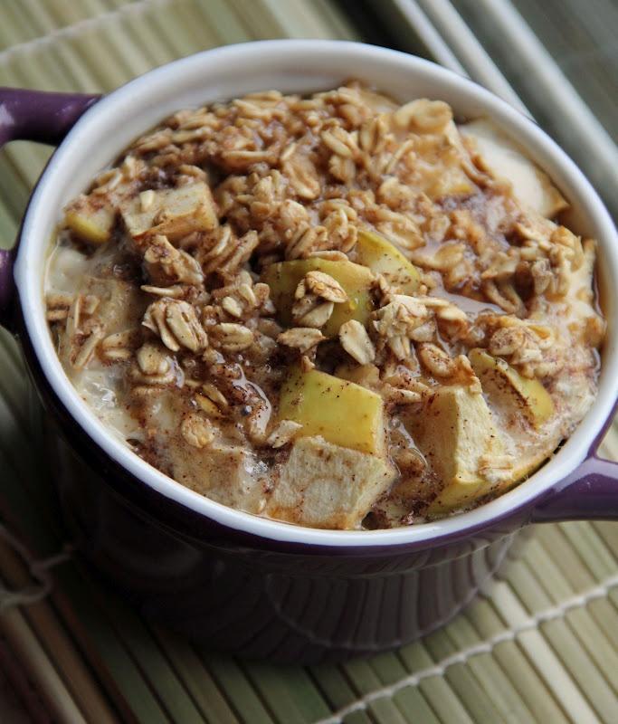 Baked Apple Cinnamon Oatmeal | Single Serving Recipes | Pinterest