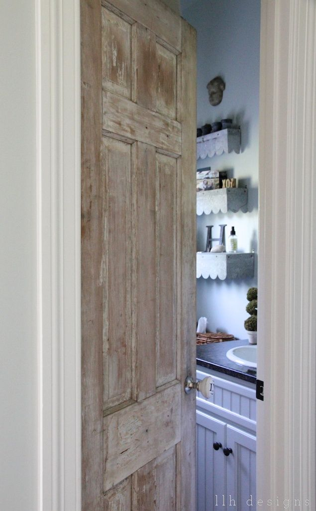 Love the door and the shelves