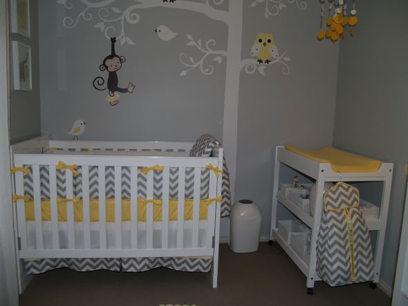 Grey And Yellow Nursery Babies Pinterest
