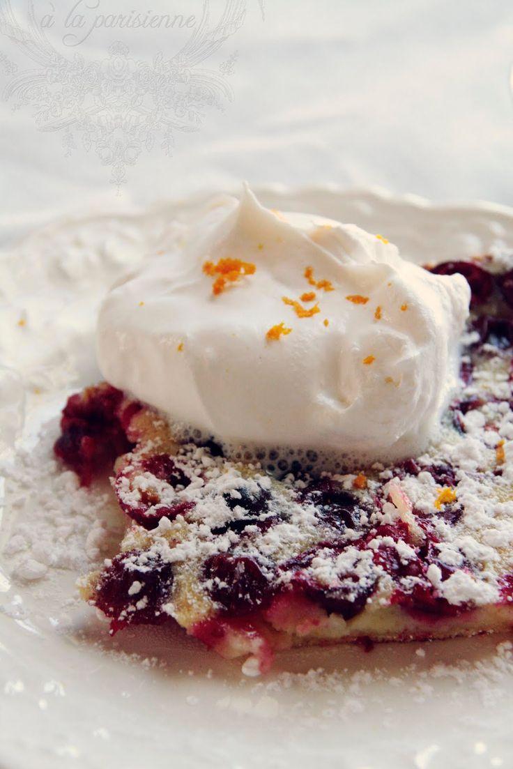 à la parisienne: Cranberry clafouti (recipe via Martha Stewart)