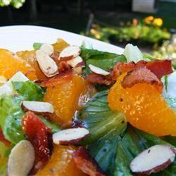 Romaine and Mandarin Orange Salad with Poppy Seed Dressing 6 slices ...