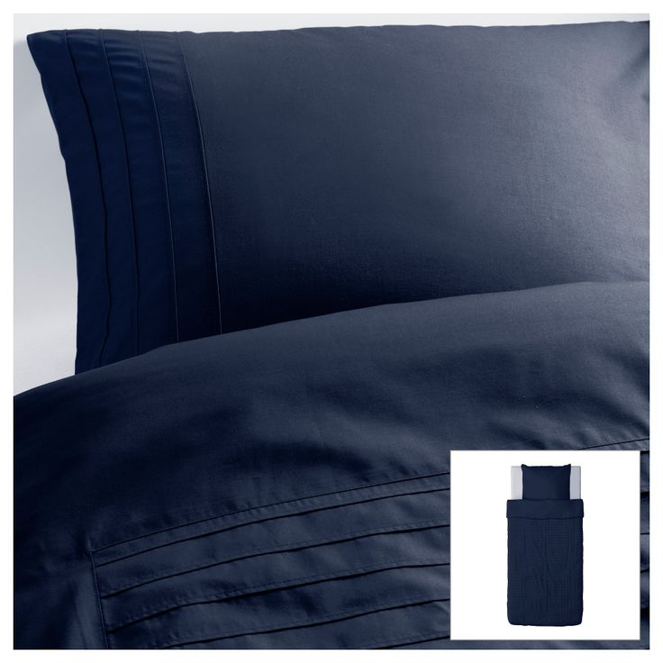 alvine str housse de couette et taie bleu. Black Bedroom Furniture Sets. Home Design Ideas