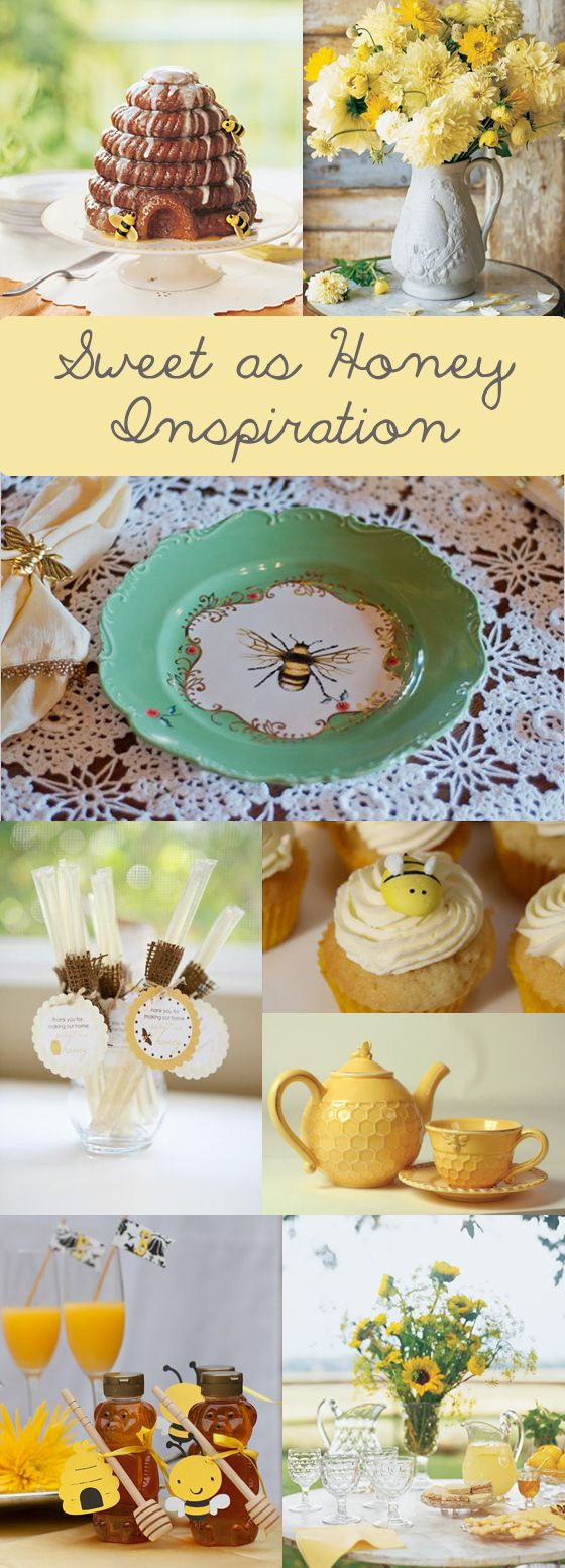 """sweet as honey"" honey bee baby or bridal shower inspiration"