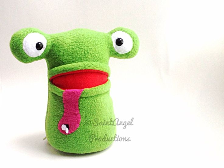Stuffed Green Frog Plush, with Pocket Mouth by Saint-Angel.deviantart ...
