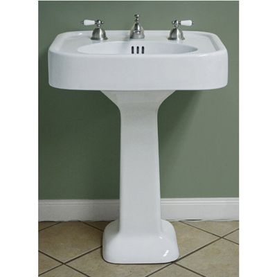 Randolph Morris Pedestal Bathroom Sink 12 Inch Faucet Drillings