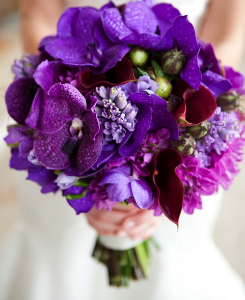 bold #purple #wedding #bouquet
