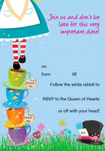 Mad Hatters Tea Party Invitation as awesome invitations layout