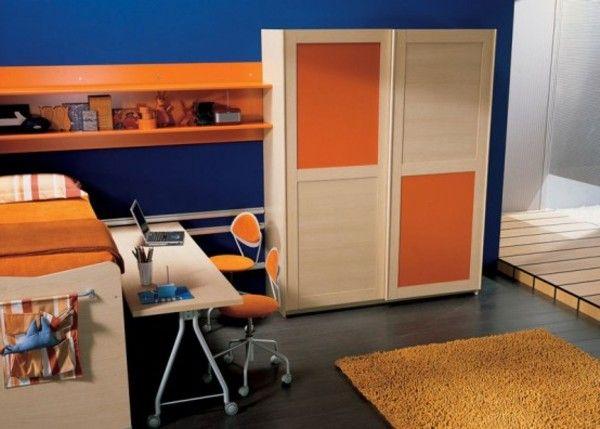 orange and blue bedrooms boys room ideas pinterest