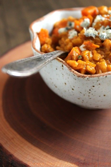 Sweet Potato and Gorgonzola Farro Risotto