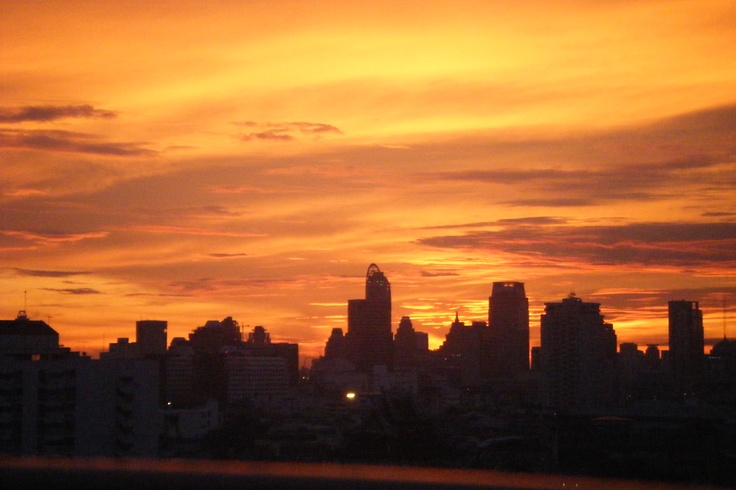 Sunset In Bangkok Beautiful Places Pinterest