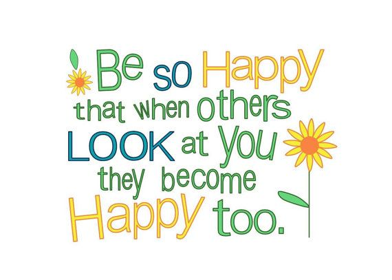 Be So Happy Sun Flower Summer Love Quote by sarijanes on Etsy