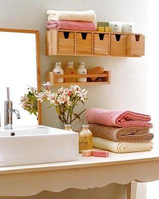 prateleiras para banheiros pequenos - Pesquisa Google