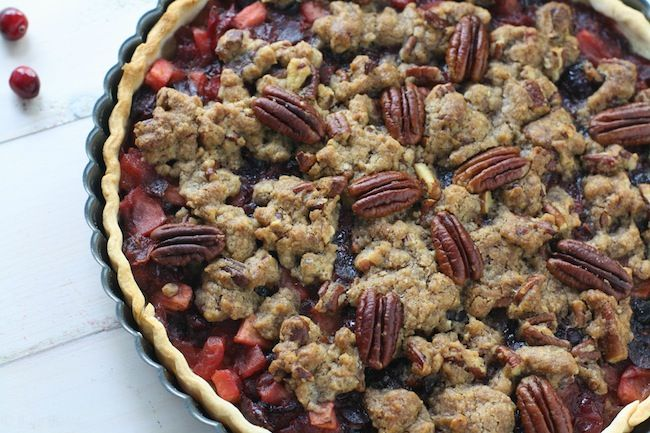 Cranberry Apple Pecan Tart from @Kate ~ FoodBabbles.com