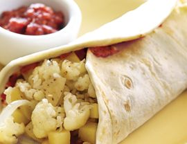 Potato and Cauliflower Burritos