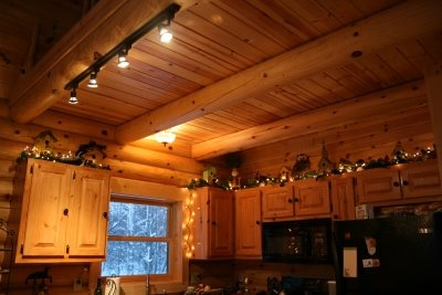 Log Cabin Christmas Kitchen Cozy Things Pinterest