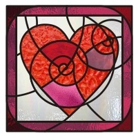 heart stained glass window stained glass