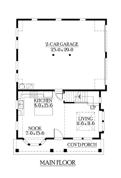 Cottage Country House Plan 87406