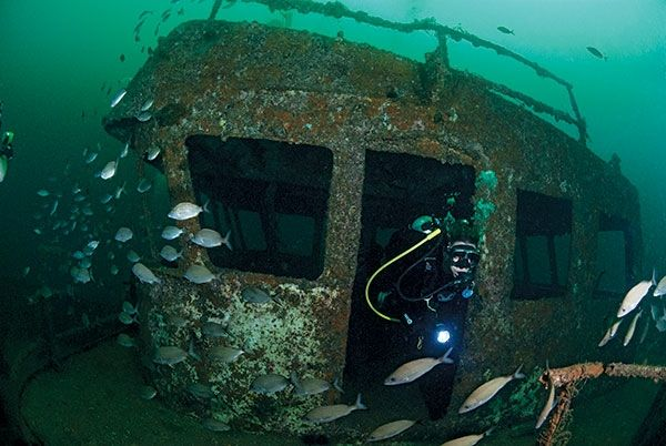 Drive and dive florida panhandle shipwreck trail for Tides for fishing pensacola