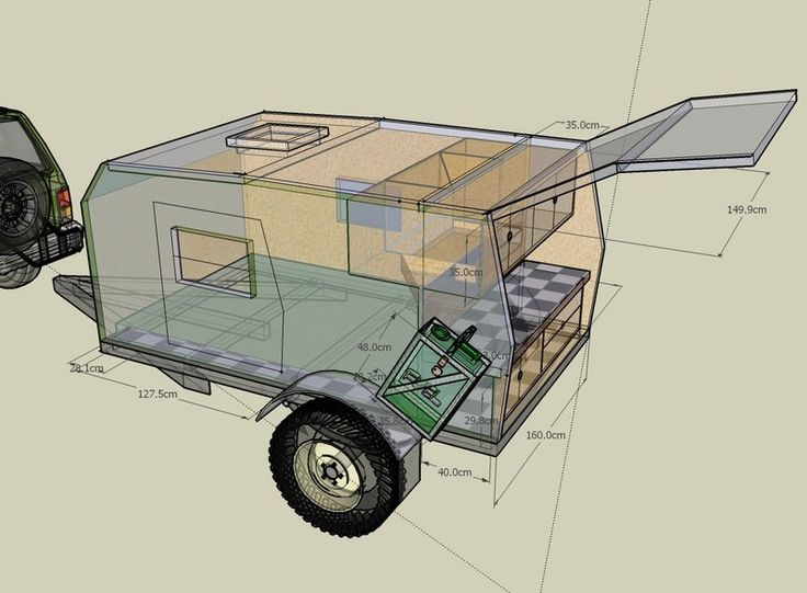 Fantastic OFFROAD Camper Trailer PLANS Design 3 Sizes AUD 3750