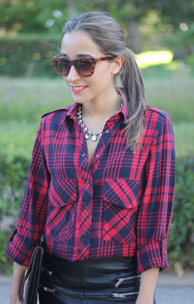 Zara Plaid Blouse 23