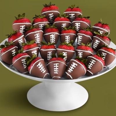 football strawberries | Yummm.. | Pinterest