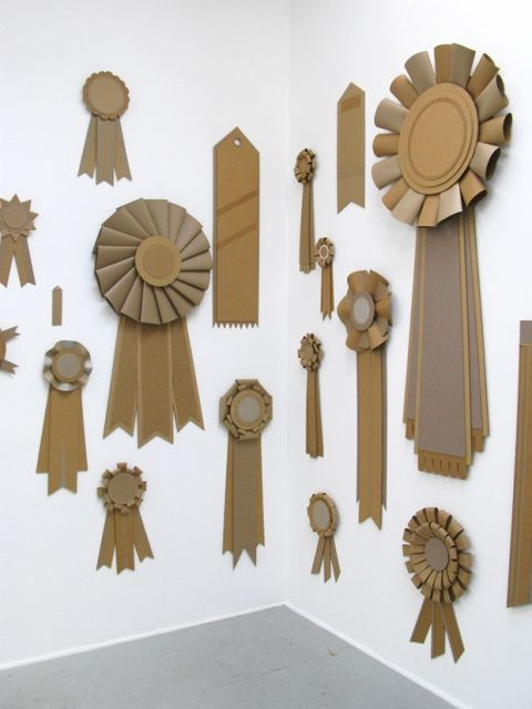 Paper ribbons in the style of vintage awards.