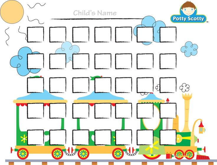 Potty Training Choo Choo Chart