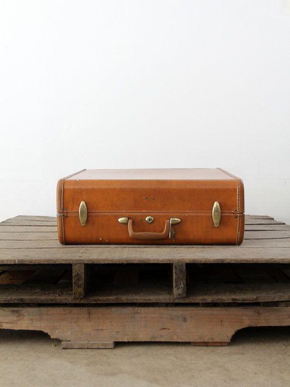 retro suitcase travel luggage with hardcase