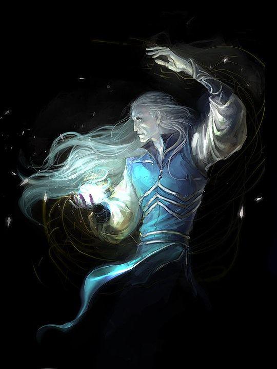 Fantasy wizard art