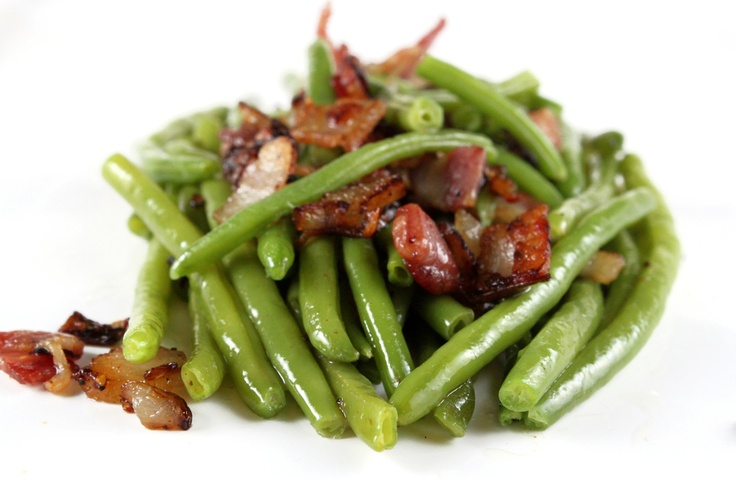 Green Beans with Bacon and Shallots | Vegetables | Pinterest