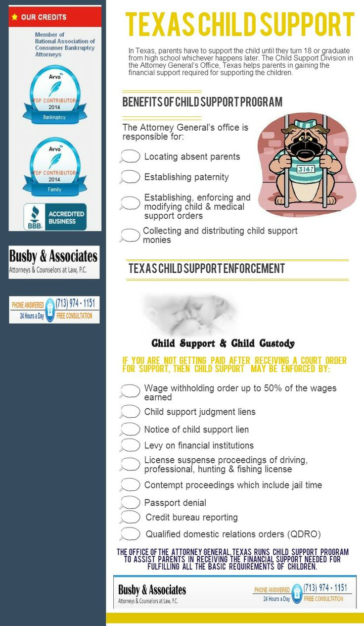 ... Child Support Division in the Attorney General's Office, Texas helps