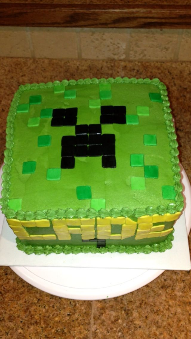 Pin Minecraft-birthday-cake on Pinterest