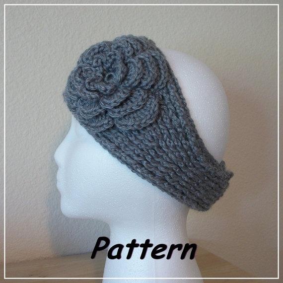 PDF Crochet PATTERN KnitLook Headband/Ear Warmer by R0SEDEW, $4.98