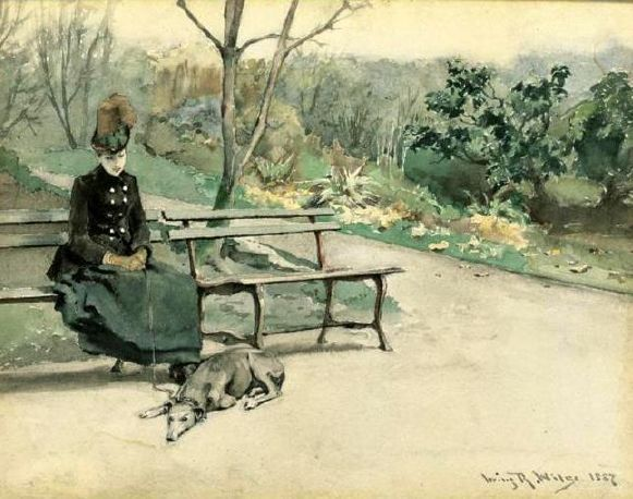 In the park irving ramsay wiles 1861 1948