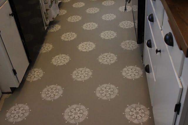 Paint linoleum floor google search bathroom design for Paint linoleum tile floor