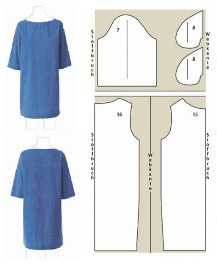 Платье прямого кроя выкройка своими руками 22