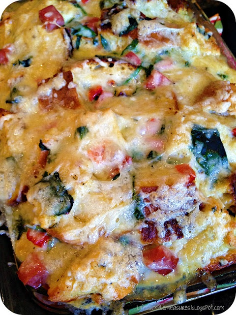... of luscious bread, ham, spinach, roasted red peppers, and cheese