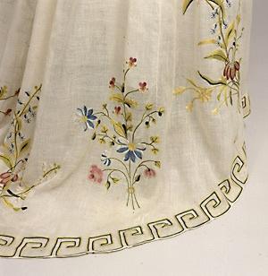 Silk thread embroidery ca.1790.